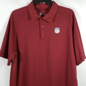 NIKE NFL APPAREL DRI-FIT POLO MAROON COLOR  LARGE